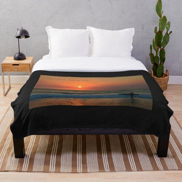 Surf Girl- Calm Mind Happy Heart - Gold Coast Australia Throw Blanket