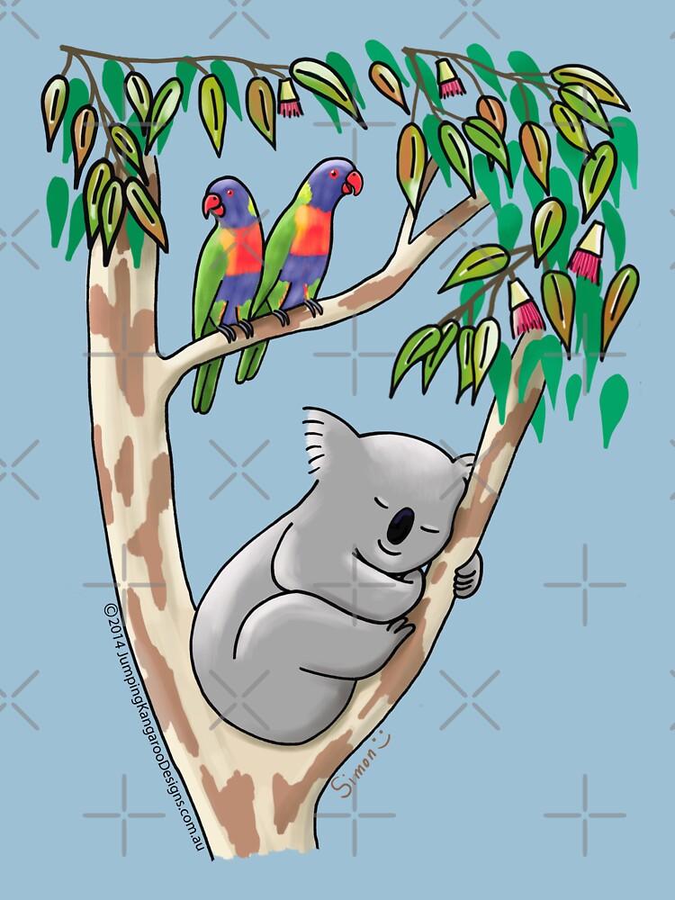 Sweet Dreams Sleeping Koala by JumpingKangaroo