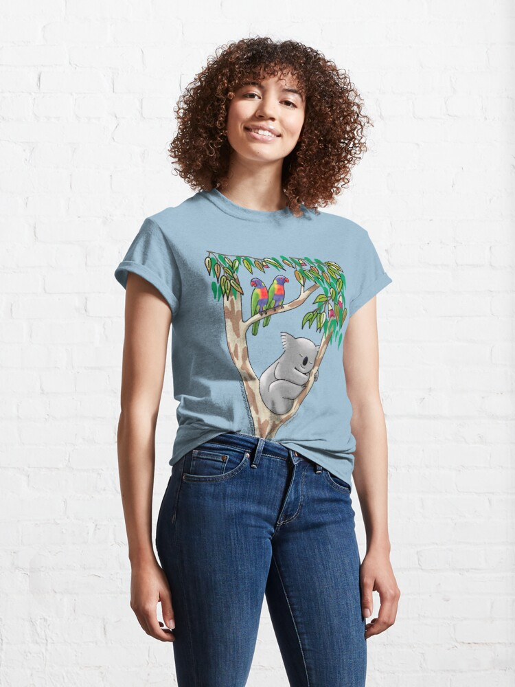 Alternate view of Sweet Dreams Sleeping Koala Classic T-Shirt