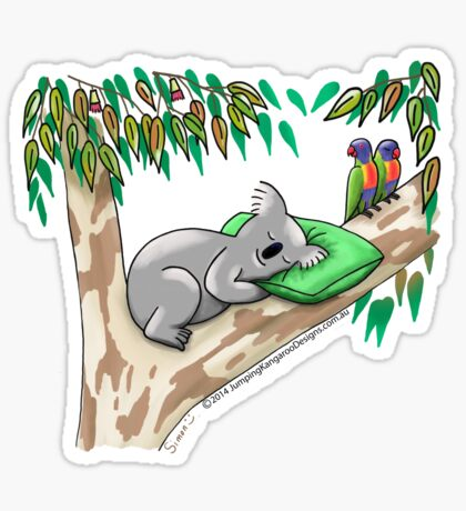 Sweet Dreams Sleepy Koala Sticker