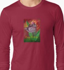 Two Tulips Happy Birthday Greeting Long Sleeve T-Shirt