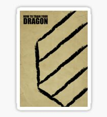 How To Train Your Dragon - Minimal Poster Sticker