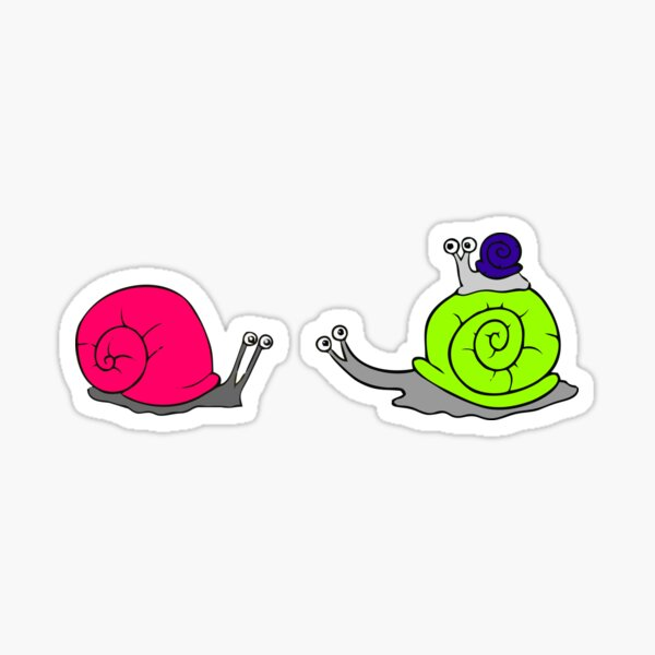 Snails Go Wild In The Country Where Everything Eats Free Sticker