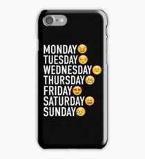 Moods of the Week Expressed Through Emojis iPhone Case/Skin