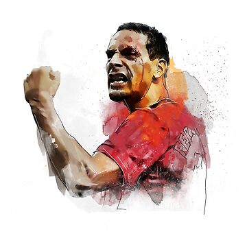 Rio ferdinand - MUFC _ fan art painting by UNITEEDS