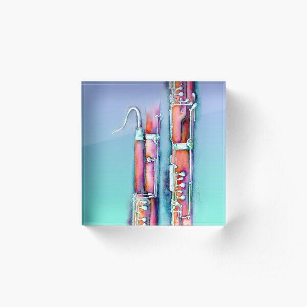 Colorful Bassoon Acrylic Block
