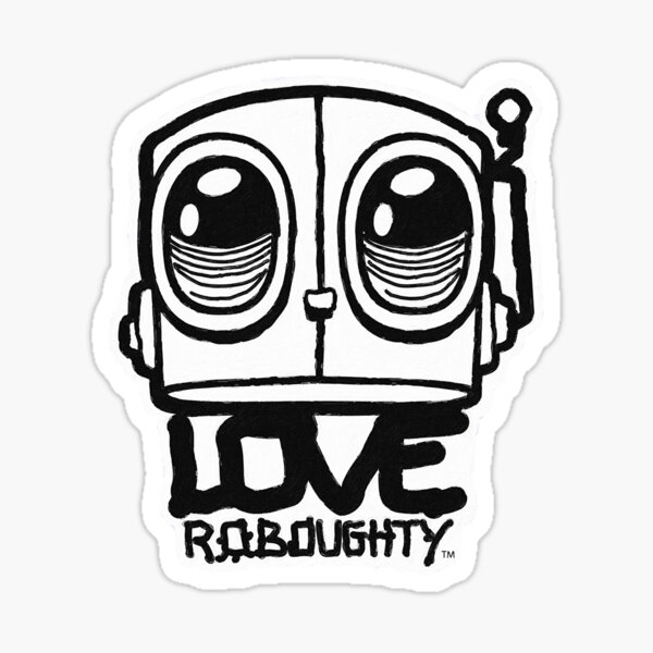 Love Roboughty Big Face Sticker