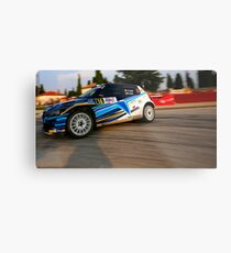 Rally car Metal Print