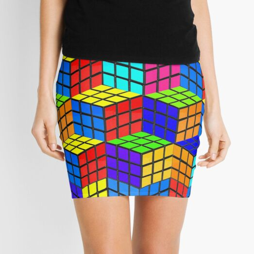 rubik's illusion Mini Skirt