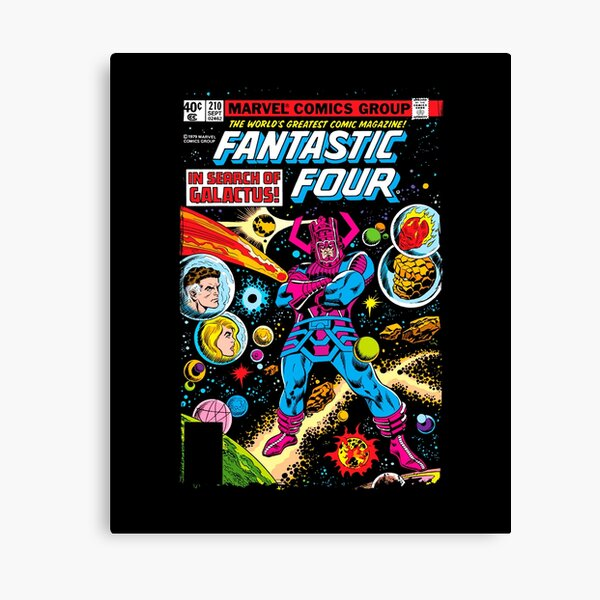 Comic Characters Poster Canvas Pictures Marvel Galactus And Silver Surfer
