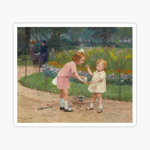 The Luxembourg Gardens (19th century) - Victor Gilbert Sticker