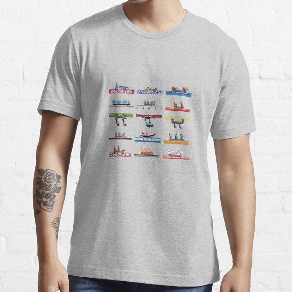 Cedar Poiint Coaster Cars Design Essential T-Shirt