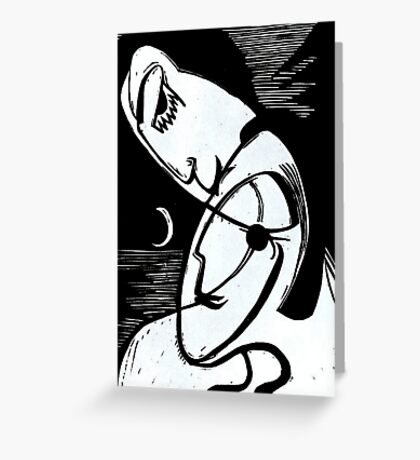 The Kiss By Moonlight and Ocean Greeting Card