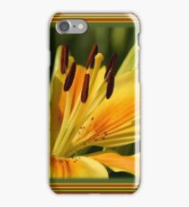 Birthday Wishes Greeting Card With A Yellow Lily iPhone Case/Skin