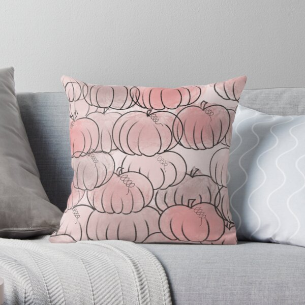 Pretty Pink Pumpkins Throw Pillow