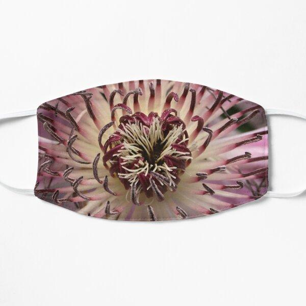 Pink Lavender Clematis Flower Closeup Mask