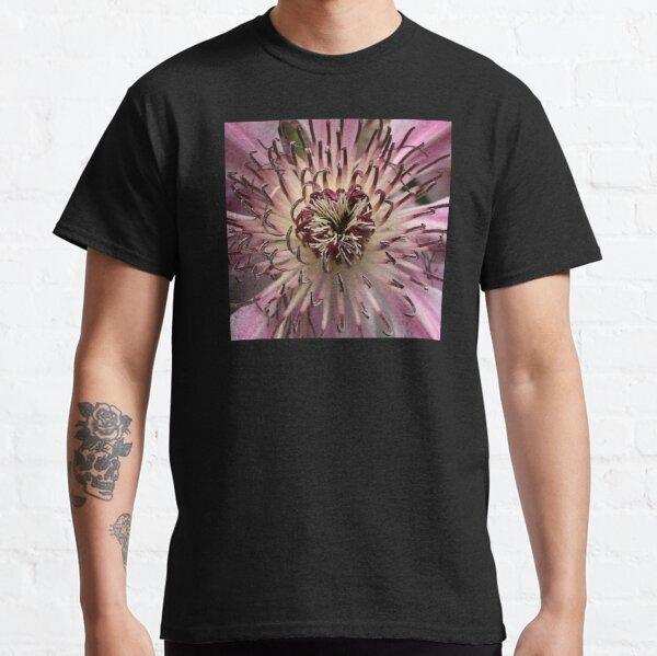 Pink Lavender Clematis Flower Closeup Classic T-Shirt