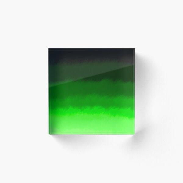 Green wild-grass gradient Acrylic Block