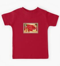 Merry Christmas Greeting With Gifts Bows And Ornaments Kids Tee