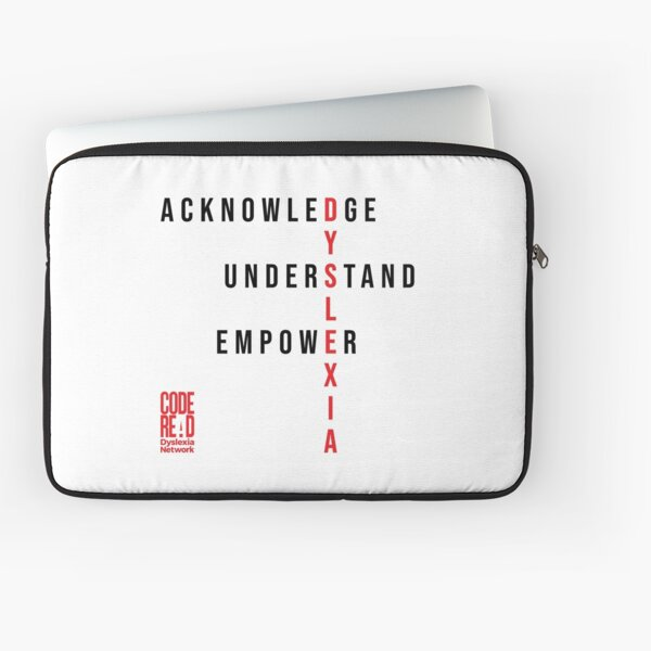 Do It RED for Dyslexia Laptop Sleeve