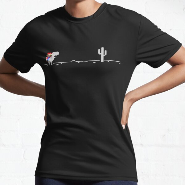 Ridding the little T-Rex without Internet connection at night Active T-Shirt