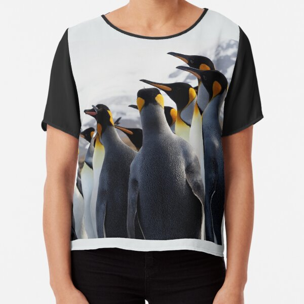 Pride Of Penguins Chiffon Top