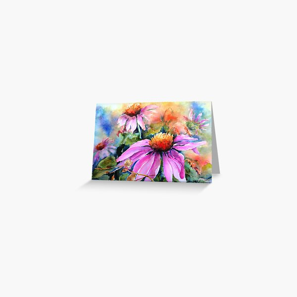 Sunset Coneflowers Greeting Card