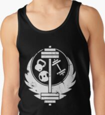 Brotherhood of steel(gym edition, white and aged) Tank Top