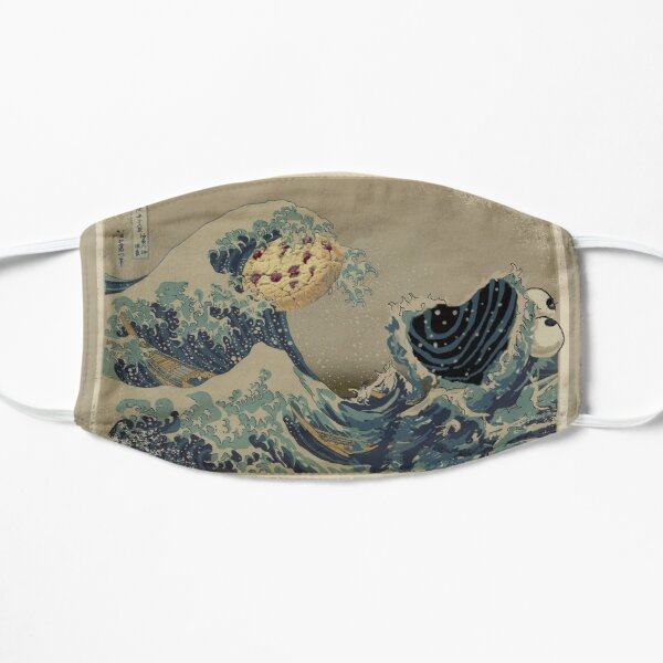 The great wave off Cookiemonsta Flat Mask