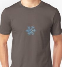 Flying castle (alternate colors), real snowflake macro photo Unisex T-Shirt