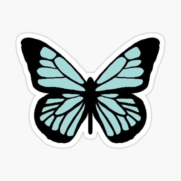 Light Blue Butterfly Sticker