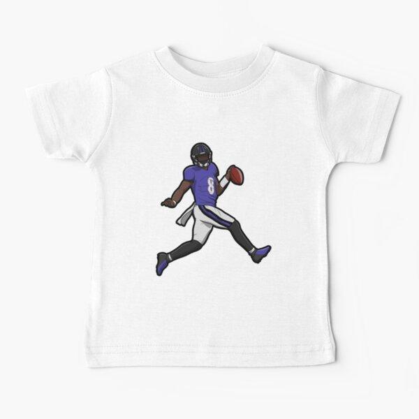 Lamar Jackson en cours de toucher vers le bas T-shirt bébé