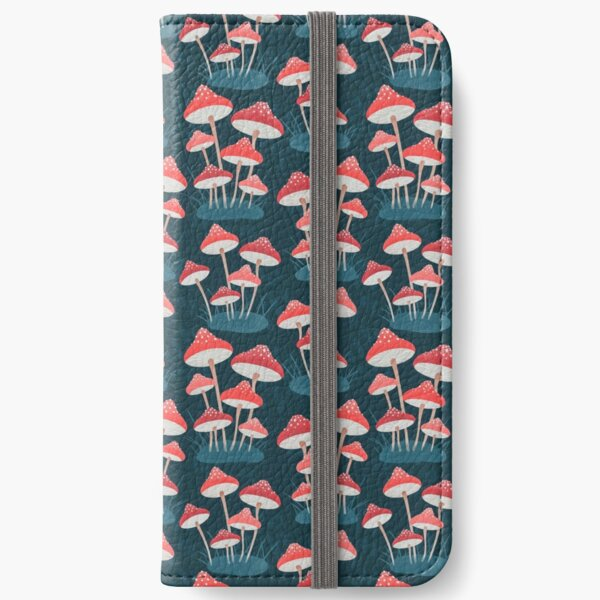 Red Toadstools iPhone Wallet
