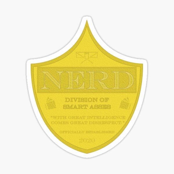 Nerd Badge Sticker
