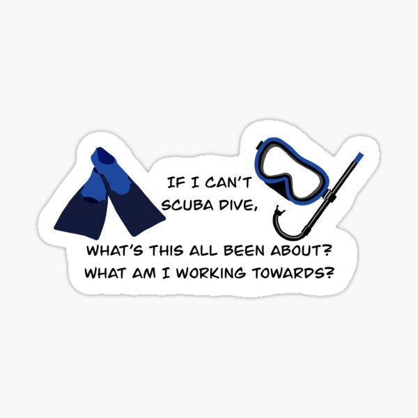 Scuba Quote - Creed Bratton - The Office Sticker