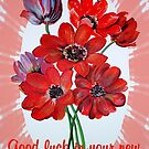Good Luck In Your New Venture Anemone Greeting by taiche