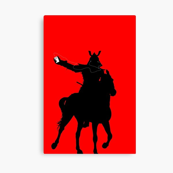 Podcasting Samurai Canvas Print