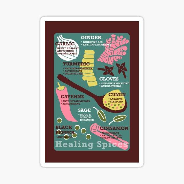 """""""Healing Spices"""" Retro Scandinavian Journal Notebook Diary Magnet Design Sticker"""