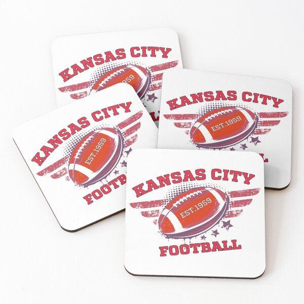 Kansas City Football  Coasters (Set of 4)