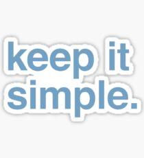 Keep it simple. Sticker