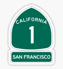 PCH - CA Highway 1 - San Francisco Sticker