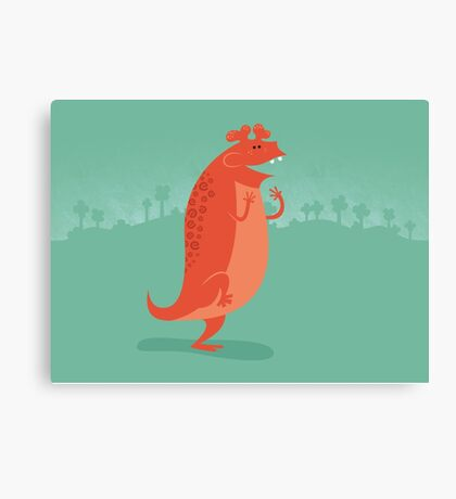 Estemmenosuchus is Ecstatic Canvas Print