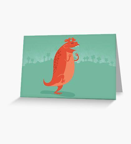 Estemmenosuchus is Ecstatic Greeting Card