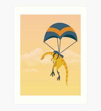 Patagonykus ist Fallschirmspringen Kunstdruck