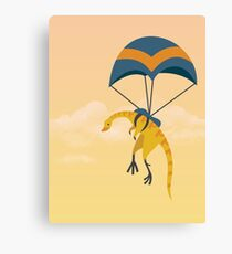 Patagonykus is Parachuting Canvas Print