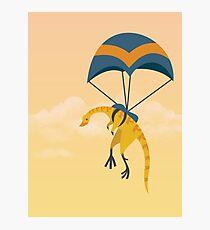 Patagonykus is Parachuting Photographic Print