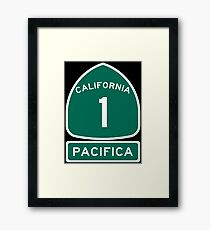 PCH - CA Highway 1 - Pacifica Framed Print