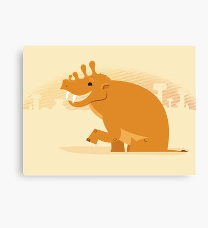 Uintatherium is Upbeat Canvas Print