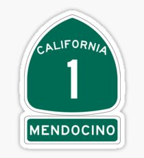 PCH - CA Highway 1 - Mendocino Sticker
