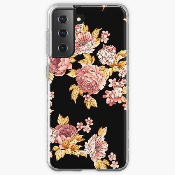Havana Floral - Black/Pink Samsung Galaxy Soft Case